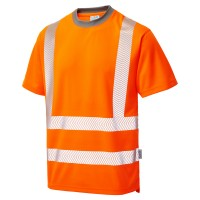 Leo Workwear Larkstone Hi-Vis T-Shirt Orange