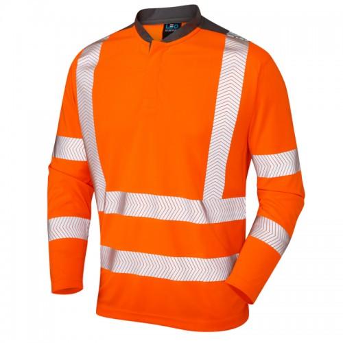 Leo Workwear Watermouth Hi-Vis Performance T-Shirt Orange