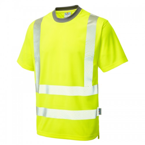 Leo Workwear Larkstone Hi-Vis T-Shirt Yellow