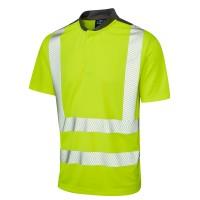 Leo Workwear Putsborough Hi-Vis Performance T-Shirt Yellow