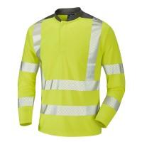 Leo Workwear Watermouth Hi-Vis Performance T-Shirt Yellow
