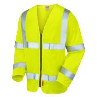 Leo Workwear Merton Hi-Vis Fire Retardant Waistcoat Yellow