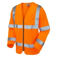 Leo Workwear Merton Hi-Vis Fire Retardant Waistcoat Orange