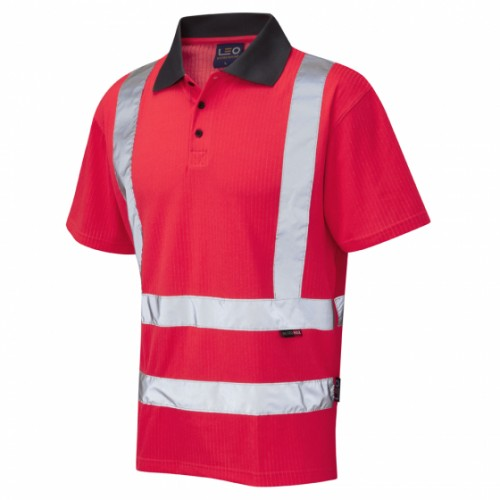 Leo Workwear Georgeham Hi-Vis Polo Shirt