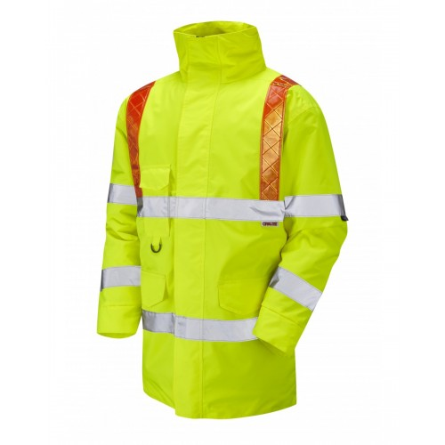 Leo Workwear Putford Class 3 Orange Hi Vis Brace Anorak