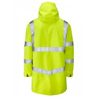 Leo Workwear Clovelly Class 3 Yellow Hi Vis Breathable Executive Anorak