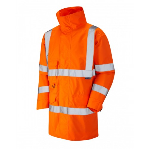 Leo Workwear Torridge Class 3 GO/RT Orange Lightweight Anorak