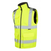 Leo Workwear Torrington Class 2 Yellow Hi Vis Body Warmer