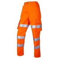 Leo Workwear Pennymoor Class 2 GO/RT Orange Ladies Cargo Trousers