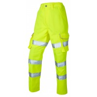 Leo Workwear Pennymoor Class 2 Yellow Ladies Cargo Trousers