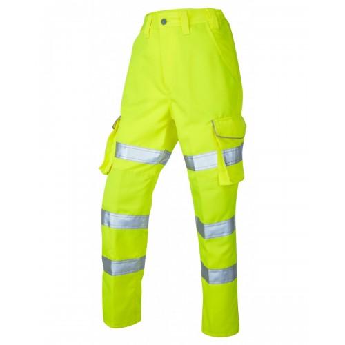 Leo Workwear Pennymoor Class 2 Yellow Ladies Cargo Trousers