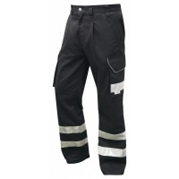 Leo Workwear Ilfracombe Black Work Trousers