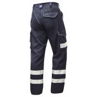 Leo Workwear Ilfracombe Navy Work Trousers