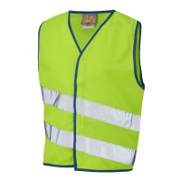 Leo Workwear Neonstars Lime Children's Waistcoat