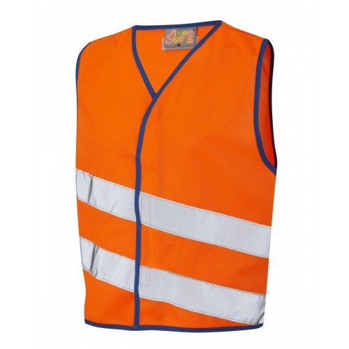 Leo Workwear Neonstars Orange Children's Waistcoat