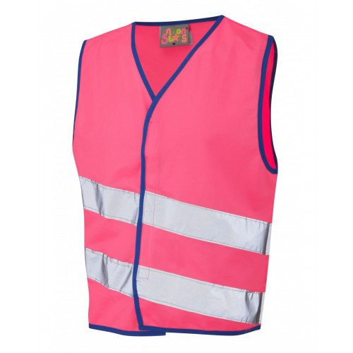 Leo Workwear Neonstars Pink Children's Waistcoat