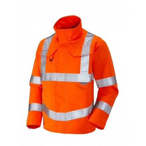 Leo Workwear Yeoford Class 3 GO/RT Orange Drivers Jacket