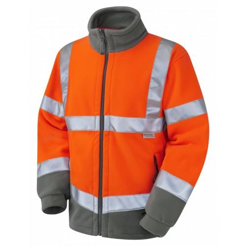 Leo Workwear Hartland Class 3 GO/RT Orange Fleece Jacket