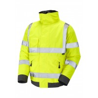 Leo Workwear Chivenor Class 3 Yellow Hi Vis Waterproof Bomber Jacket