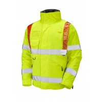Leo Workwear Portmore Class 3 Yellow Superior Bomber Jacket