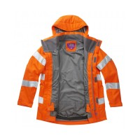 Leo Workwear Rosemoor Class 3 GO/RT Orange Ladies Breathable Jacket