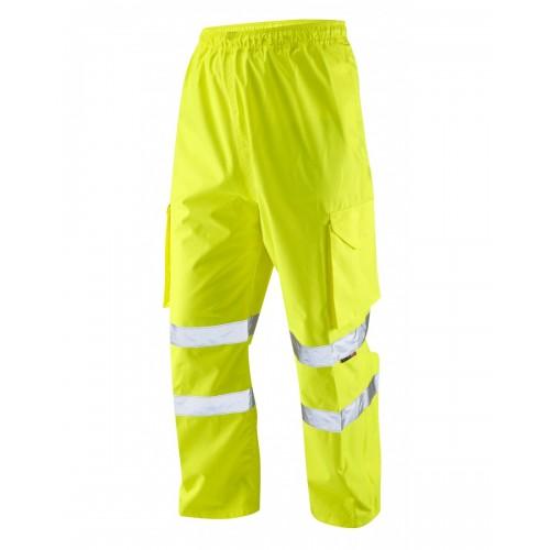 Leo Workwear Appledore Class 1 Yellow Cargo Overtrousers