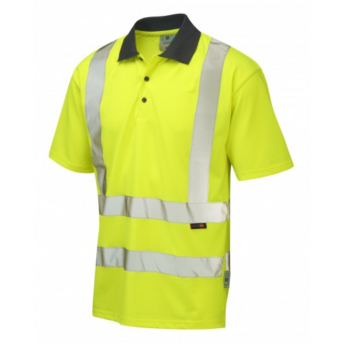 Leo Workwear Rockham Class 2 Yellow Coolviz Polo Shirt