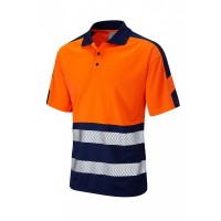 Leo Workwear Watersmeet Class 1 Orange 2Tone Hi Vis Polo Shirt