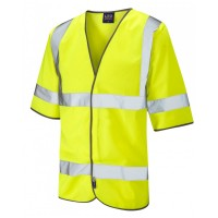 Leo Workwear Gorwell Class 3 Yellow Hi Vis Half Sleeved Waistcoat