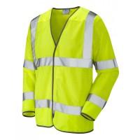 Leo Workwear Fremington Class 3 Yellow CoolViz Sleeved Waistcoat