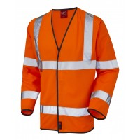 Leo Workwear Mullacott Class 3 Orange LFS Hi Vis Sleeved Waistcoat