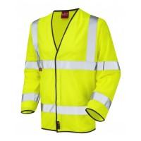 Leo Workwear Mullacott Class 3 Yellow LFS Hi Vis Sleeved Waistcoat