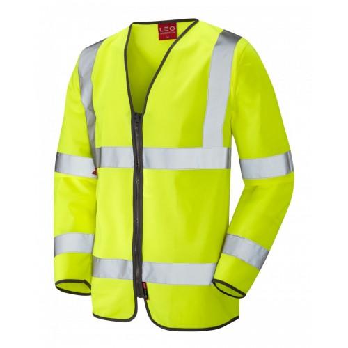 Leo Workwear Brayford Class 3 Yellow LFS Hi Vis Sleeved Waistcoat