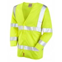 Leo Workwear Cranford Class 3 Yellow LFS Hi Vis 3/4 Sleeve Waistcoat