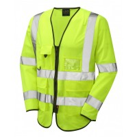 Leo Workwear Wrafton Class 3 Yellow Superior Sleeved Waistcoat