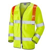 Leo Workwear Barbrook Class 3 Yellow Sleeved Waistcoat