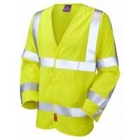 Leo Workwear Meshaw Class 3 LFS Anti Static Yellow Hi Vis Waistcoat