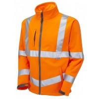 Leo Workwear Buckland Class 3 GO/RT Orange Softshell Jacket