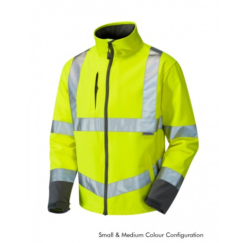 Leo Workwear Buckland Class 3 Yellow Softshell Jacket