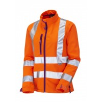 Leo Workwear Honeywell Class 2 GO/RT Orange Ladies Softshell Jacket
