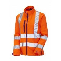 Leo Workwear Honeywell Class 2 GO/RT Orange Ladies Softshell Jacket