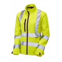Leo Workwear Honeywell Class 2 Yellow Ladies Softshell Jacket