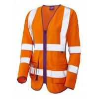 Leo Workwear Beaworthy Class 2 Orange Sleeved Waistcoat