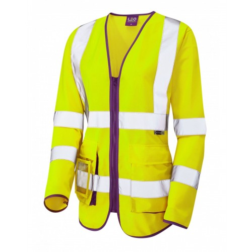 Leo Workwear Beaworthy Class 2 Yellow Sleeved Waistcoat