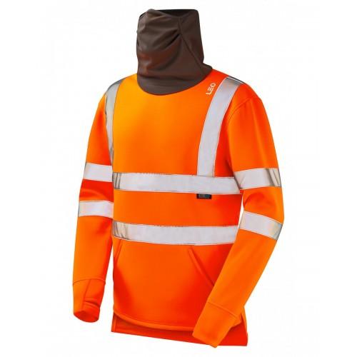 Leo Workwear Combesgate Orange Snood Sweatshirt