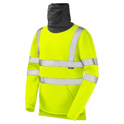 Leo Workwear Combesgate Yellow Snood Sweatshirt
