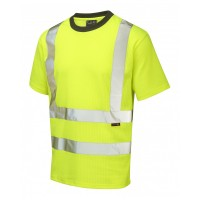 Leo Workwear Newport Class 2 Yellow Poly/Cotton T Shirt