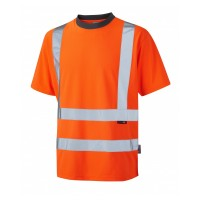 Leo Workwear Braunton Class 2 GO/RT Orange Hi Vis T-Shirt