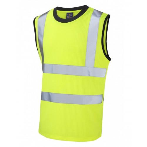 Leo Workwear Ashford Class 2 Yellow Poly/Cotton Vest