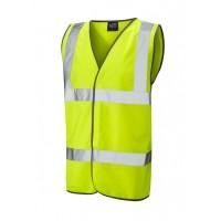 Leo Workwear Tarka Class 2 Yellow Hi Vis Waistcoat